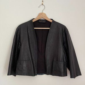 ALEXIS Cropped Leather Jacket
